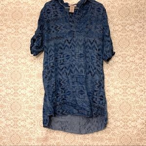 Philosophy Southwestern Chambray Print Shift Dress